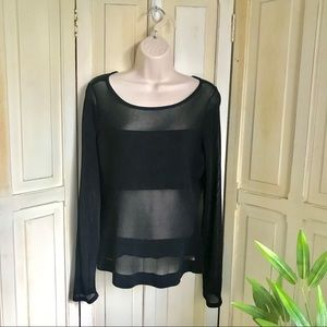 "Black ""peek a boo"" top"